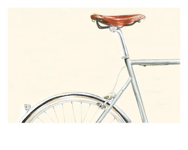 Bicycle drawing by Nancy Adjei