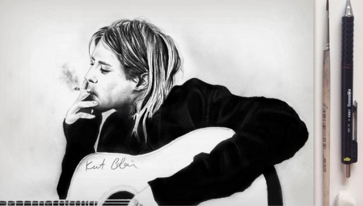 Kurt Cobain drawing by Nancy Adjei