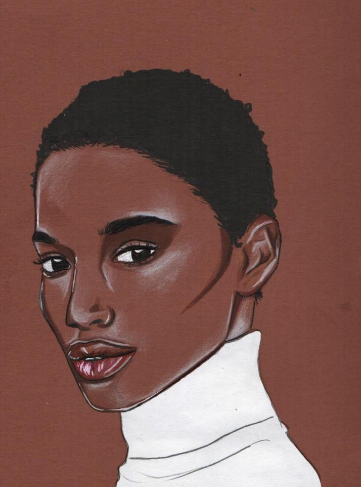 Tara Falla drawing by Nancy Adjei