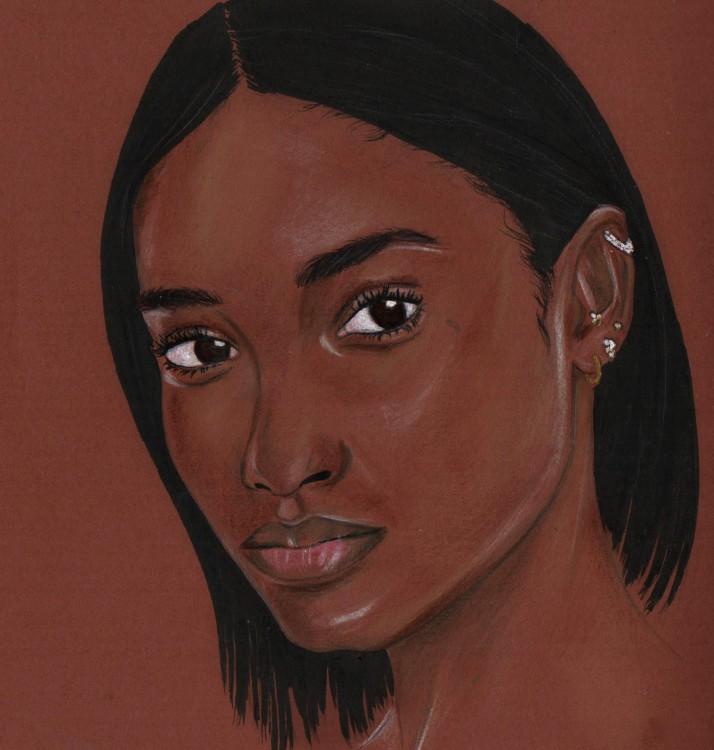 Melodie Monrose portrait by Nancy Adjei